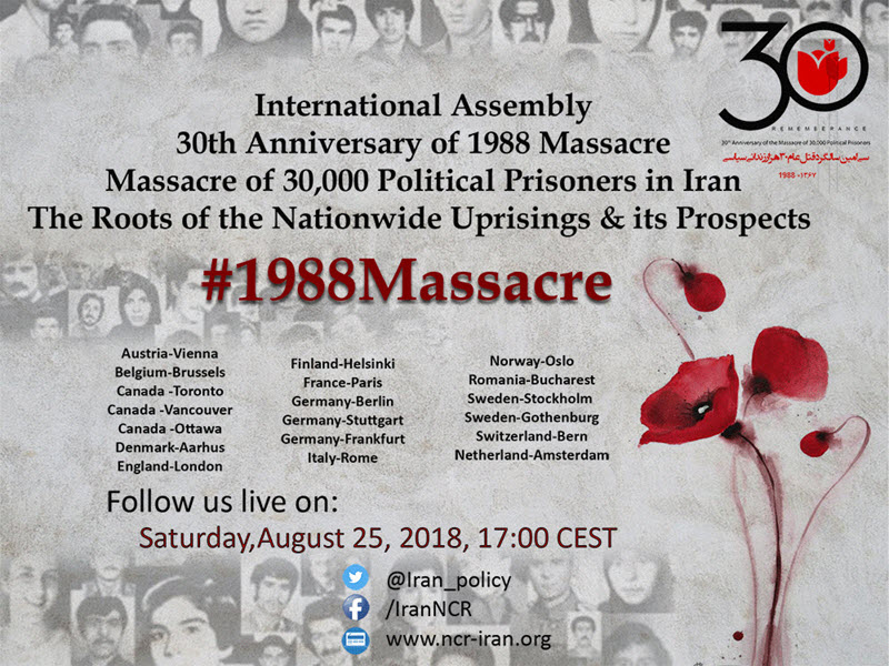 Massacre of 30,000 Political Prisoners in Iran