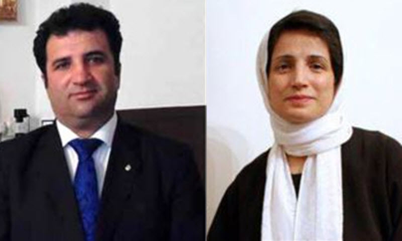 Human rights defenders Nasrin Sotoudeh and Mohammad Najafi