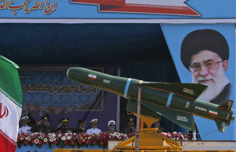 Iran's missile in a military parade