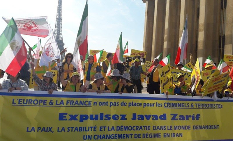 Protests against the European trip of Mohammad Javad Zarif