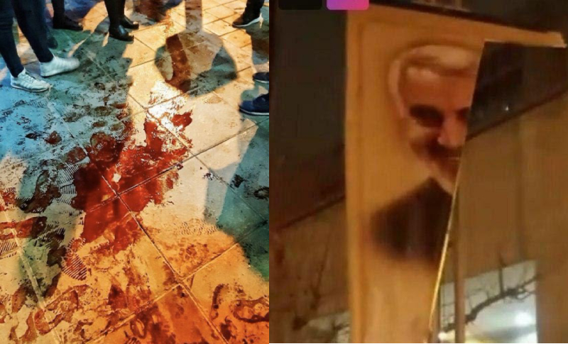 The Iranian people, particularly young people and women are tearing down and burning images of the regime's criminal mastermind Qassem Soleimani, who was taken out in a US drone strike on January 3.
