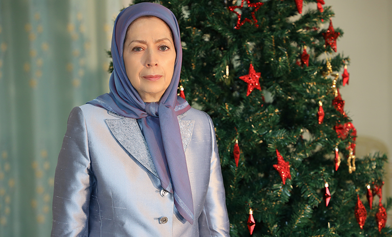 Mrs. Maryam Rajavi, President-Elect of the National Council of the Resistance of Iran (NCRI), send a video message on the Tuesday December 23, on the occasion of Christmas and the advent of the New Year.