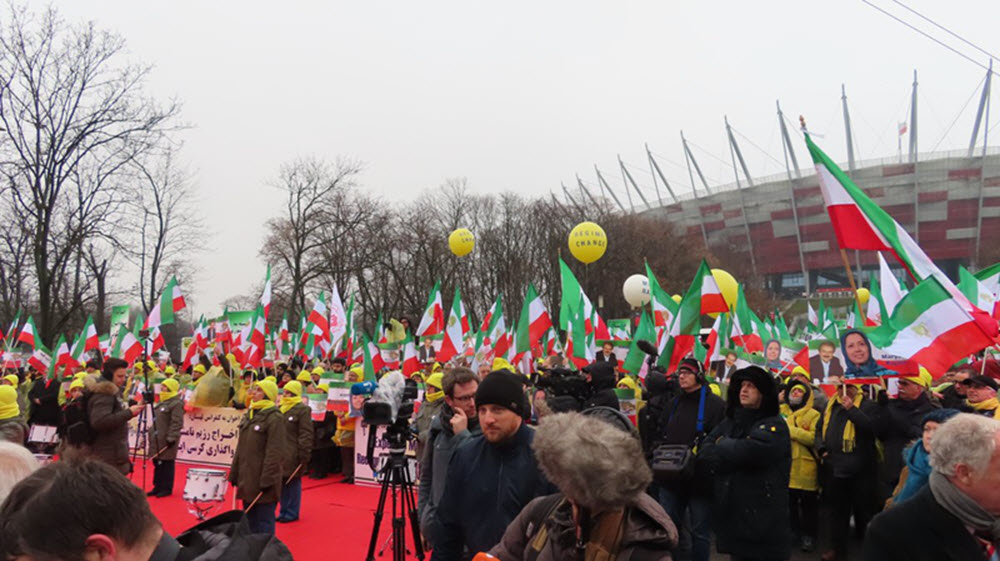 Free Iran Rally in Warsaw