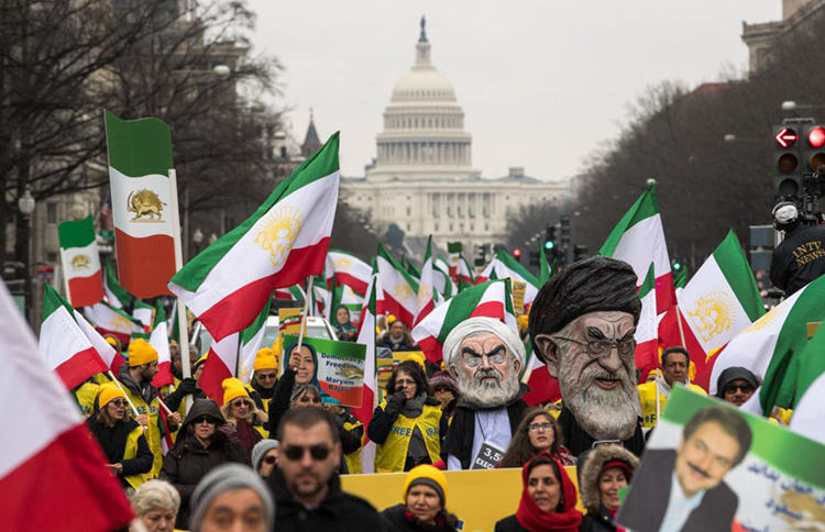 Thousands of Supporter of the MEK rally for regime change in Iran, Saturday, June 21, 2019