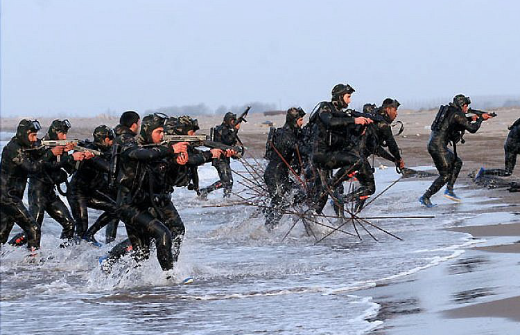 Navy forces of the Army of the Guardians of the Islamic Revolution commandos and missile boats