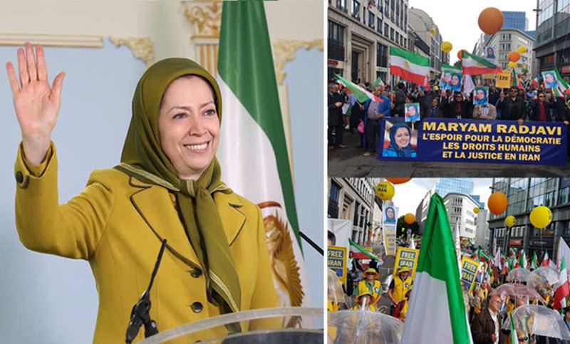 At Brussels Protest, Maryam Rajavi Urges EU to Sanction Iran's Regime