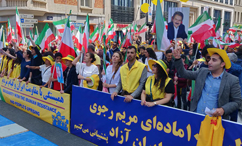 Iranian supporters of the People's Mojahedin Organization of Iran (PMOI or MEK)