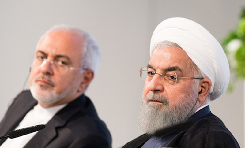 Iranian President Hassan Rouhani and Mohammad Javad Zarif, Iran's foreign secretary.