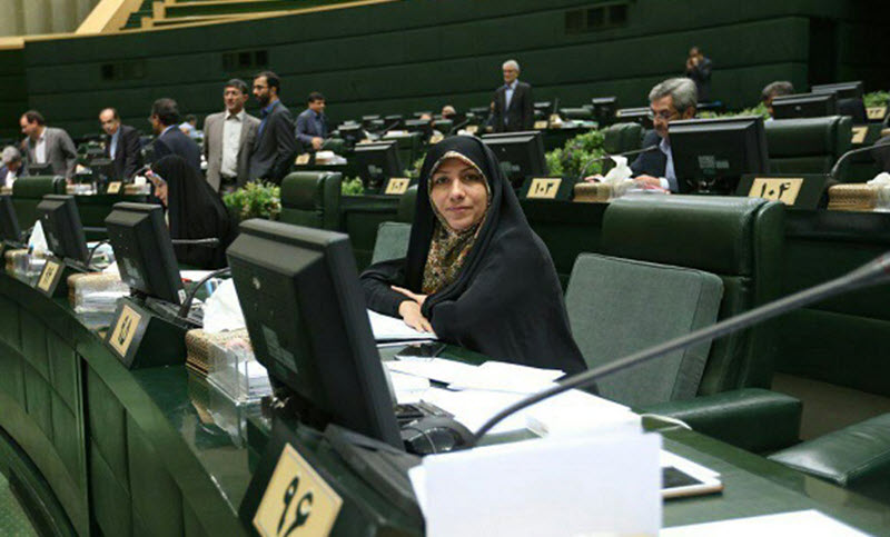 Member of the Majlis, the Iranian regime's parliament, Nahid Tajeddin, who is allied with President Hassan Rouhani