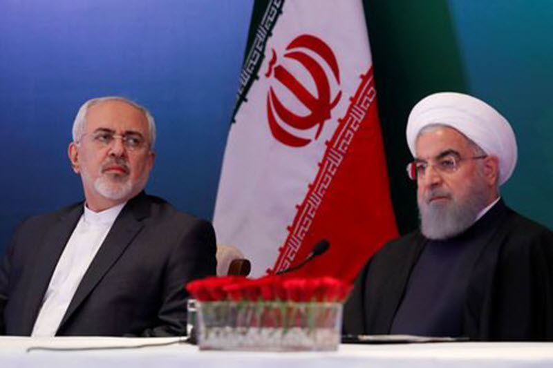 Iranian President Hassan Rouhani and Foreign Minister Mohammad Javad Zarif