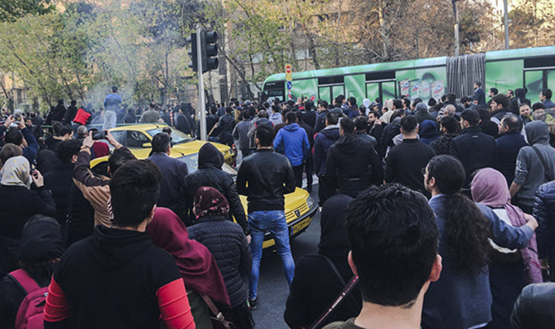 protests in the Iran