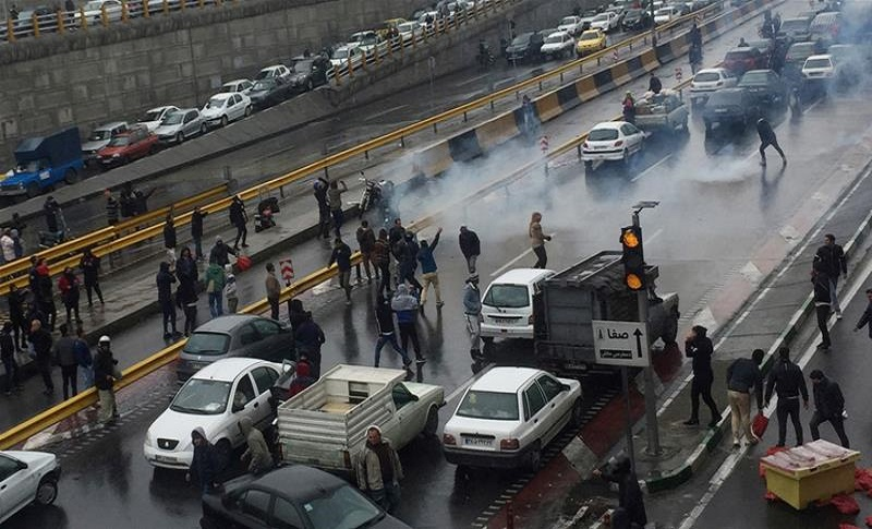 Angry crowds called for oust of the Iranian regime's President Hassan Rouhani and blamed the mullahs destructive policies.
