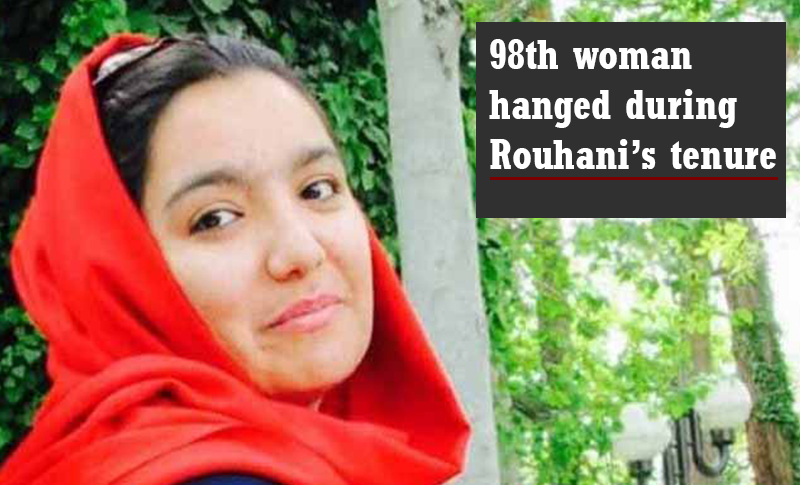 98th woman to be hanged during Rouhani's tenure