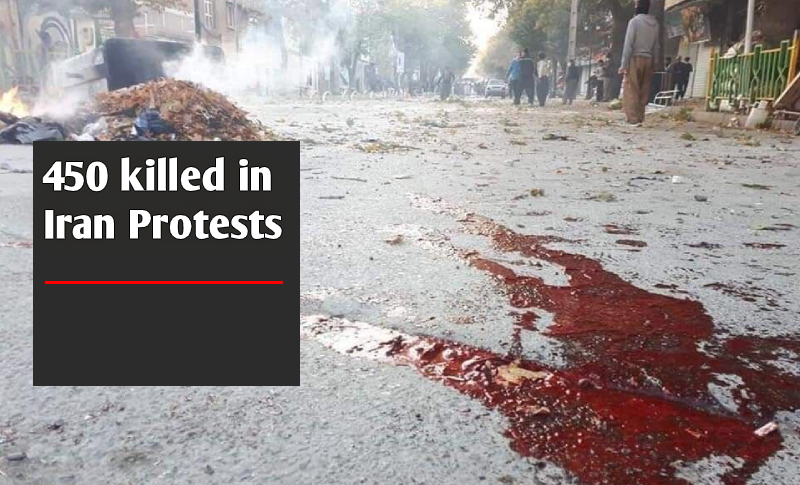 victims killed during Iran Protests 2019 has surpassed 450