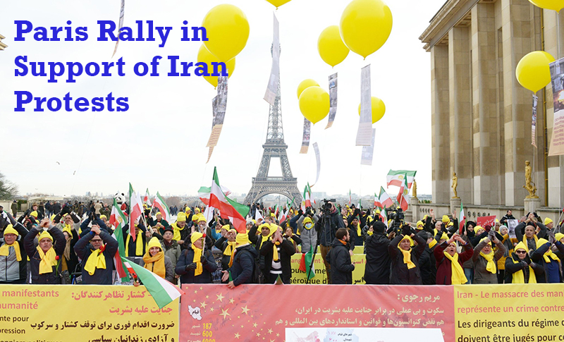 In Paris supporters of the Iranian Resistance, in a rally, announced their solidarity with the uprising of the Iranian people to overthrow the mullahs' regime.
