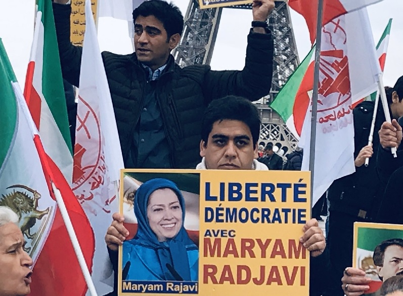 "Following Iran Protests 2019 the supporters and sympathizers of the People's Mojahedin Organizations of Iran's (PMOI/MEK) rallying across the world to support ""Democracy, Freedom, Regime Change in Iran."""