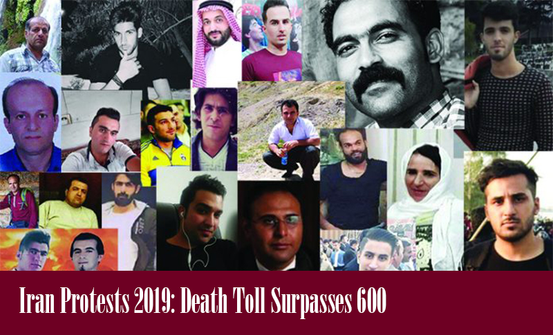 Iran Protests 2019: Death Toll Surpasses 600 reported MEK