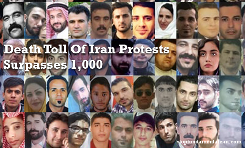 Iran Protests: More than 1000 protesters have been killed – many shot in the head or chest.