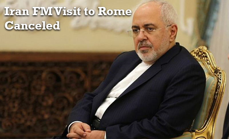 Javad Zarif, Iranian regime's Foreign Minister visit to Institute for Strategic Studies MED in Rome that was planned on 6 and 7 December is canceled