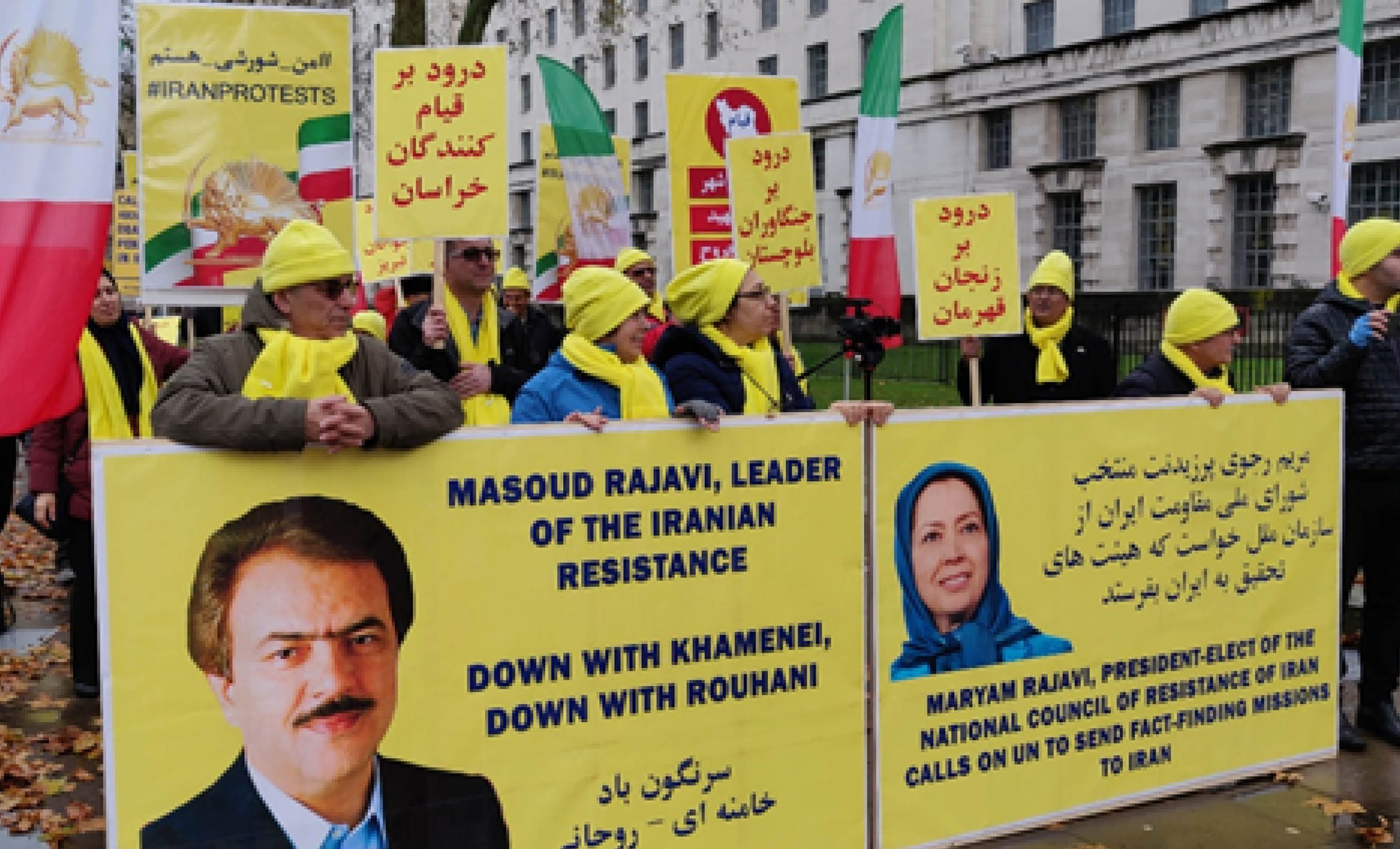 Iran Protests Iranians Rally in London