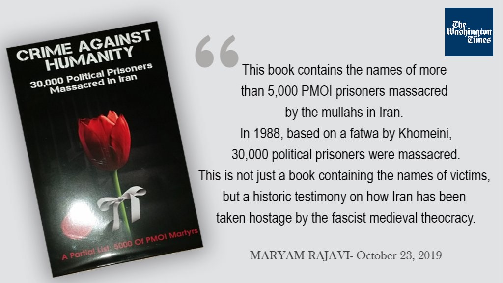 "The book, entitled ""Crime Against Humanity"", contains the names of 5,000 victims of the 1988 massacre"