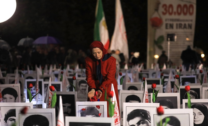 Maryam Rajavi, introduced a new book to French Assembly featuring the names of 5,000 members of MEK, who were murdered by the Iranian regime in the 1988 massacre of 30,000 MEK members.