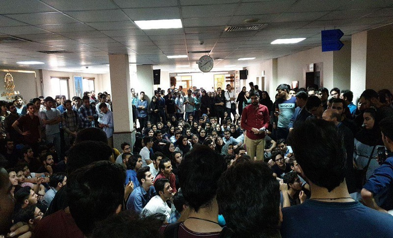 Despite the regime's suppression on Sunday October 14 students of Tehran's Amir Kabir University held a demonstration in the Farabi campus against policies of the university's administration and illegal costs imposed by university managers