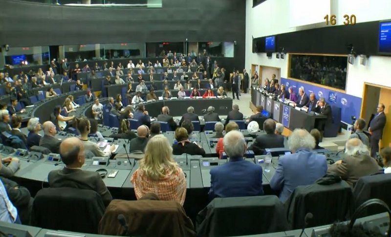 A conference at the European Parliament in Strasbourg
