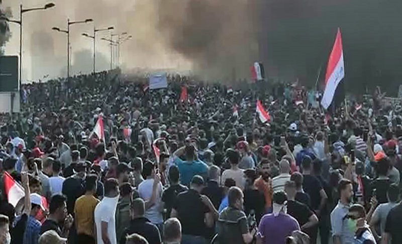 Iraqis protest Iranian interference