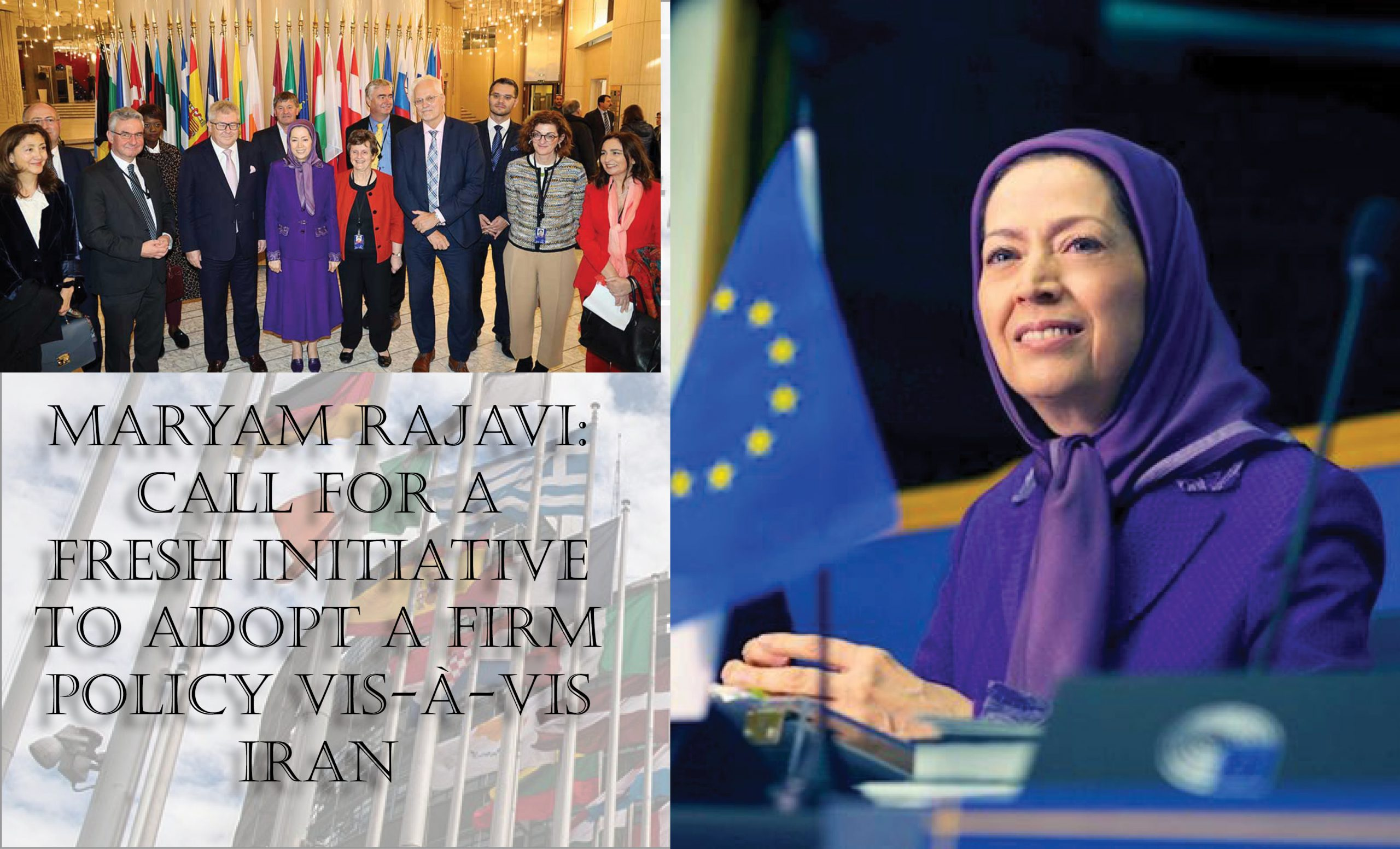 European parliament voicing support for a strong policy vis-a-vis the Iranian regime's human rights violations and warmongering