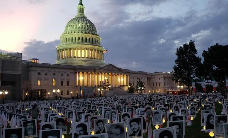 Exhibition in U.S. Capitol On Thursday in honor of political prisoners massacred in 1988 by the Iranian regime