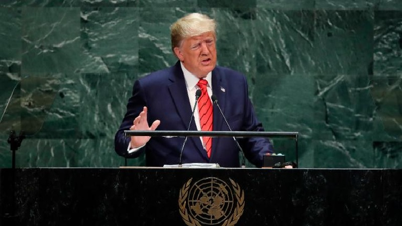"""Trump called the mullahs in Iran, one of the """"greatest security threats facing peace-loving nations"""