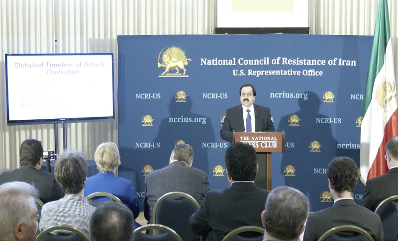 Press conference at the National Press Club in Washington, DC
