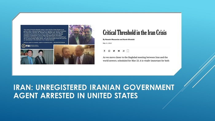 Unregistered Iranian government agent