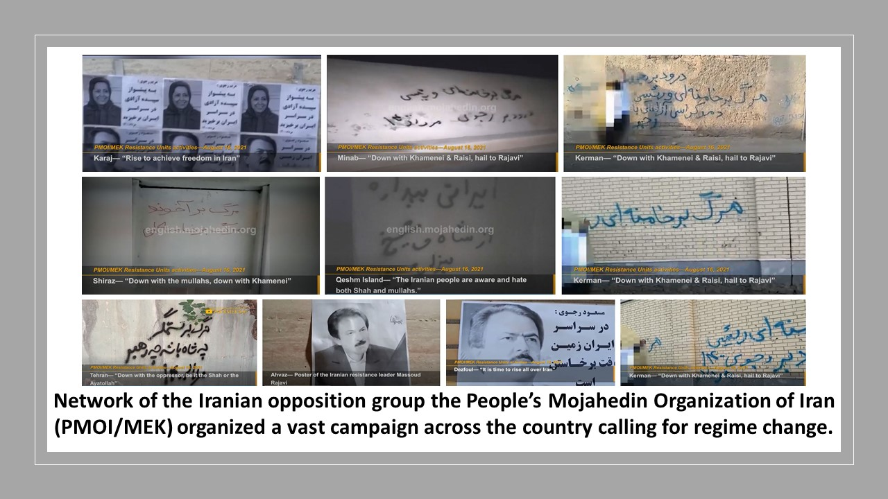 Resistance Units and MEK supporters