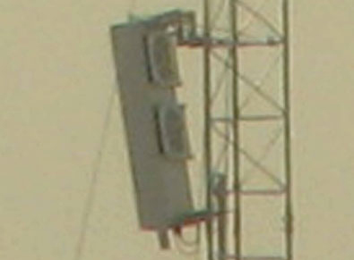 15 meter pole installed by Camp Ashraf to jam satellite transmission. These are same equipment used in Iran to jam satellite TV programs inside Iran.