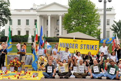 Hunger Strike Continues in Washington, DC and other European Cities and Ashraf, Iraq Calling for the Release of 36 Abductees