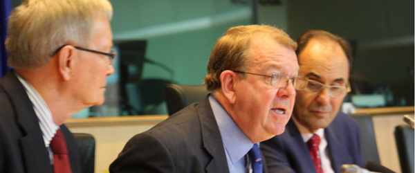 From left to right: Tunne Kelam(MEP), Struan Stevenson(MEP), Alejo Vidal-Quadras(MEP, Vice-President European Parliament)