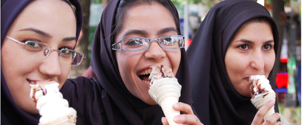 Ice cream shops are banned from selling cone ice cream to women