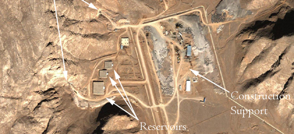 Satellite image of Isfahan nuclear facilities