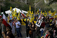 Iranians protest Against Ahmadinejad outside United Nations Building in New York